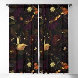 The Darkest Dutch Vintage Flowers Garden  Blackout Curtain