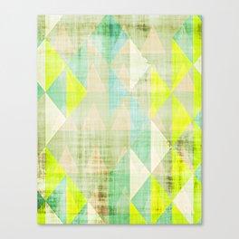 neon art, geometric print, modern painting, mid century art, abstract art, modern art Canvas Print