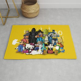 Characters Chilling (yellow) Rug