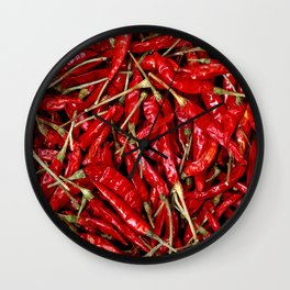 Red Chili Peppers! Wall Clock