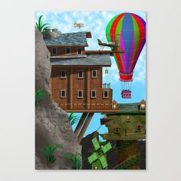 The Cliff Face House Canvas Print
