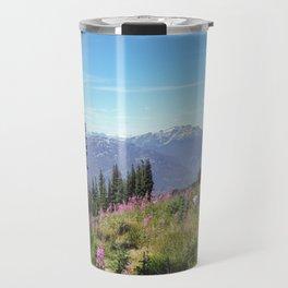 Summer Ski Slope in Whistler Travel Mug