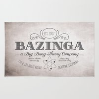 bazinga Area & Throw Rugs featuring Bazinga Vintage by Nxolab