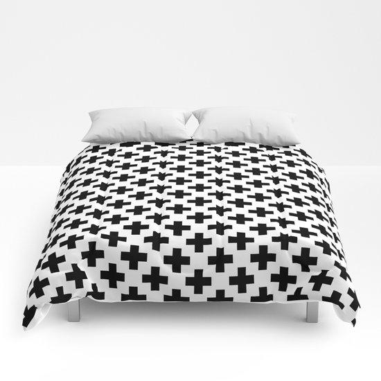 Plus Black & White Comforters