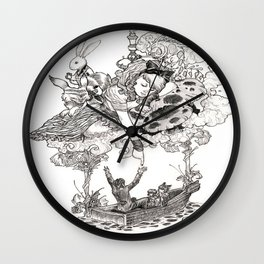 Dreaming Alice Wall Clock