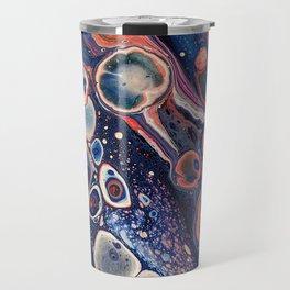 Resurrection Blue Purple Red Fluid Abstract Travel Mug