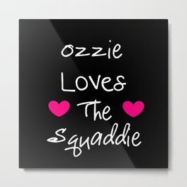 Doctor Who Ozzie Loves The Squaddie Metal Print