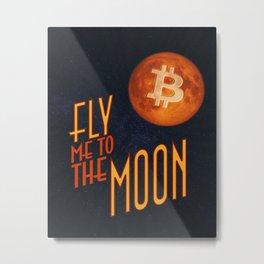 BTC to the Moon Metal Print