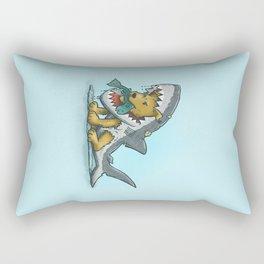 Shark Suit Dog Rectangular Pillow
