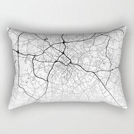 City Map Neck Gaiter Charlotte North Carolina Neck Gator Rectangular Pillow