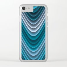 Organic Undulations (teal) Clear iPhone Case