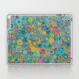 Psychedelic funky Seventies disco party Laptop & iPad Skin