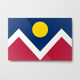 Denver, Colorado city flag - Authentic High Quality Metal Print