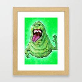 Slimer (Ghostbusters) Framed Art Print