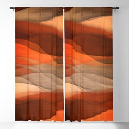 """Sea of sand and caramel waves"" Blackout Curtain"