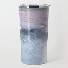 Dark gray colorful watercolor texture Travel Mug