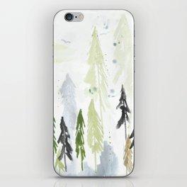 Into the woods woodland scene iPhone Skin
