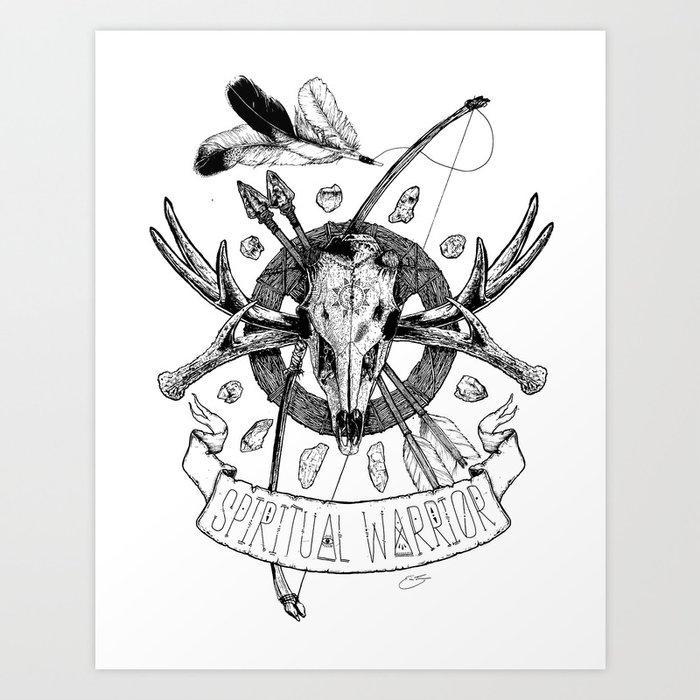 Spiritual Warrior Art Print