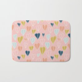 Heart Doodle Pattern 10 Bath Mat
