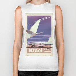 Israel 1977 vintage travel poster. Biker Tank