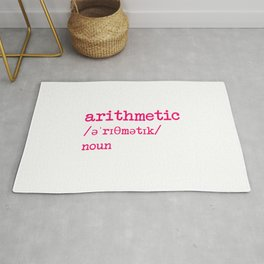Arithmetic Teacher Word Definition Dictionary Mathematician Rug