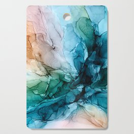 Salty Shores Abstract Painting Cutting Board