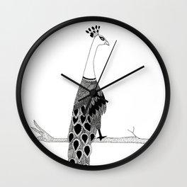Peacock- Zentangle Wall Clock