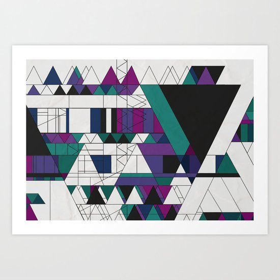 Triangled! Art Print