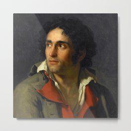 "Jacques-Louis David ""Portrait of his jailer"" Metal Print"