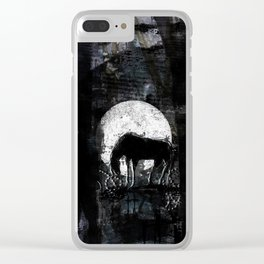 Horse in No Man's Land Clear iPhone Case
