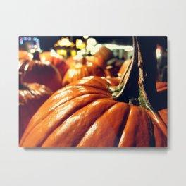 Shiny Pumpkins Metal Print