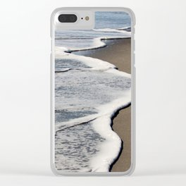 Gentle Waves Clear iPhone Case