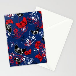 Video Game Red White & Blue 1 Stationery Cards
