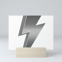 Silver Lightning Bolt Mini Art Print