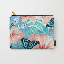 Tropical Spring Aqua Carry-All Pouch
