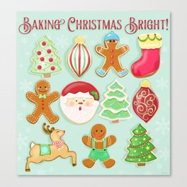 Baking Christmas Bright Canvas Print