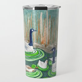 Water Friends drawing by Amanda Laurel Atkins Travel Mug
