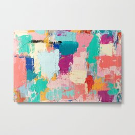 CABBAGE HANDS // ABSTRACT MIXED MEDIA ON CANVAS Metal Print