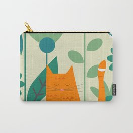 Ginger kitty at the botanic garden Carry-All Pouch