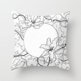 Flowers For The Dead Throw Pillow