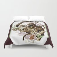 tarot Duvet Covers featuring Death Tarot by A Hymn To Humanity