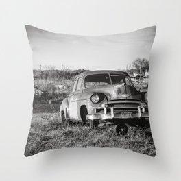 West Texas Junk Yard Throw Pillow