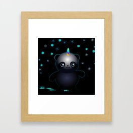 Glow in the Dark Pandacorn Framed Art Print