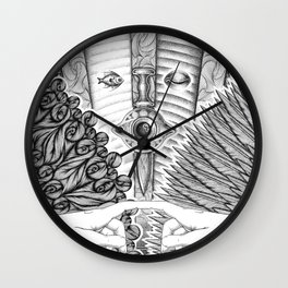 Voluptas: Love and Psyche Wall Clock