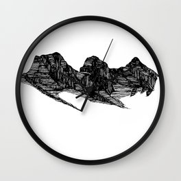 Three Sisters Illustration Wall Clock