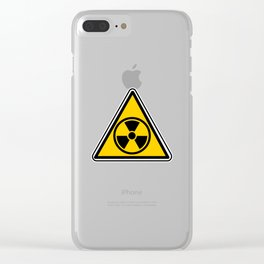 radioactive warning triangle Clear iPhone Case