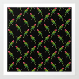 Parrot Pattern Art Print