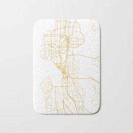 SEATTLE WASHINGTON CITY STREET MAP ART Bath Mat