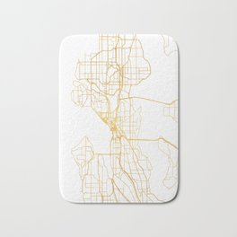 SEATTLE WASHINGTON CITY STREET MAP ART Bath Mat