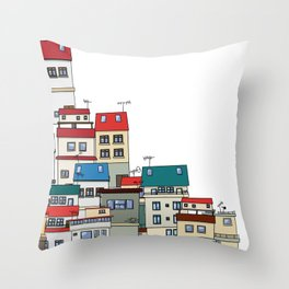 Roof city Throw Pillow